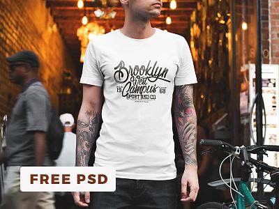 👚 Free T-Shirt Mockup / Urban Edition branding t-shirt showcase mockup mock-up mock up template apparel freebie free fashion clothing