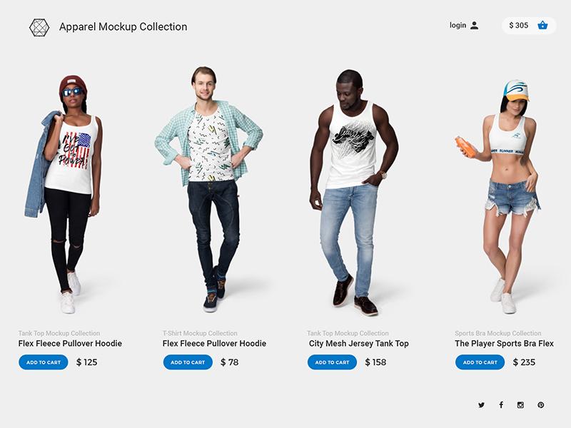 Ultimate Apparel Mockup Collection branding t-shirt showcase mockup mock-up mock up template apparel tshirt mockup psd fashion clothing