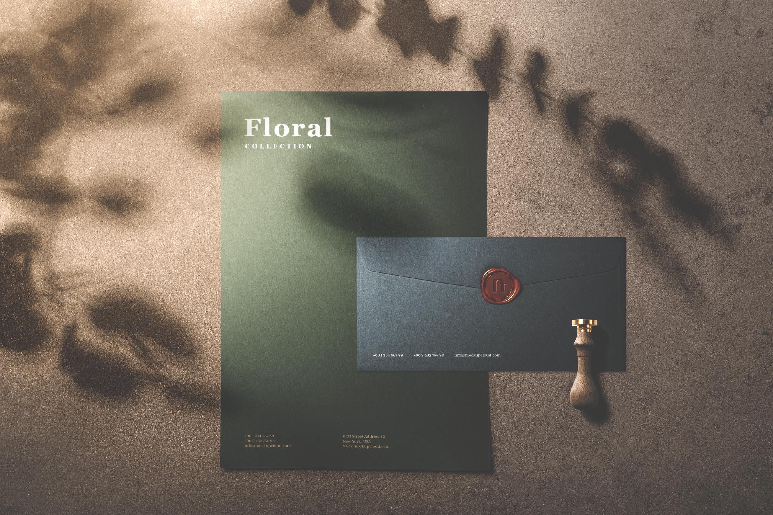 15 floral premade scene