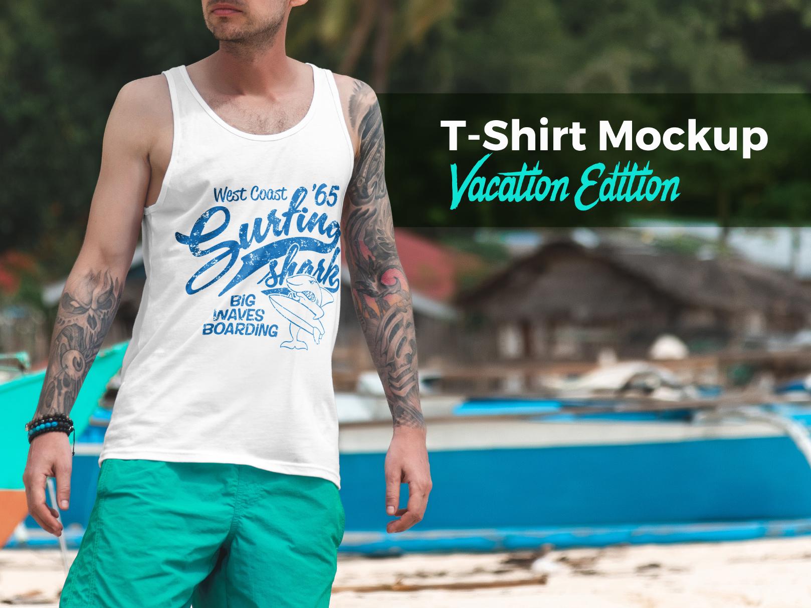 00 t shirt mockup vacation edition