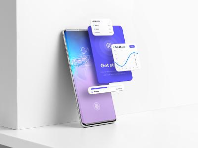 Samsung Galaxy S10+ Mockup Templates brand presentation showcase download ui branding mockup web design psd mobile app branding ux-ui samsung device screen app galaxy android template smartphone mockup