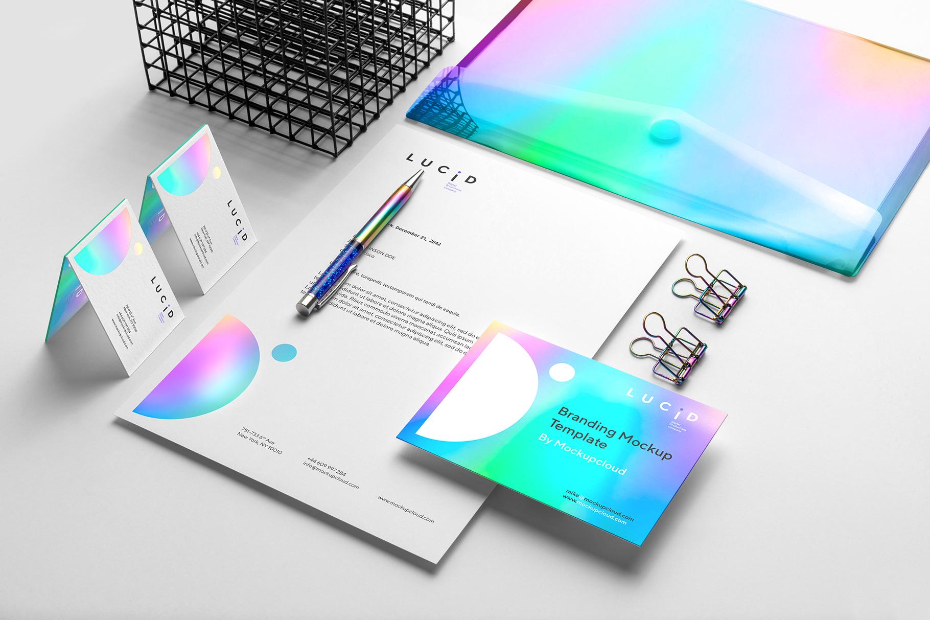 10 lucid branding mockup