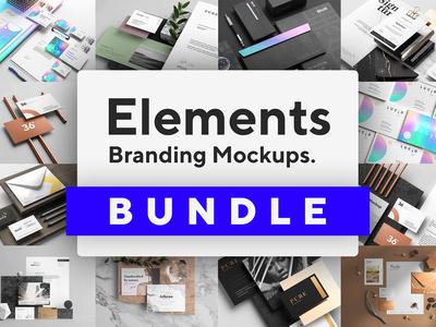 🔥 NEW! Elements - Branding Mockups Bundle