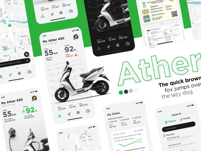 Ather - EV App Design Concept app design app vehicle app tesla vehicle ev electric vehicle