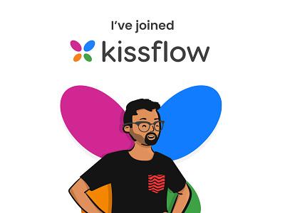 I've joined Kissflow job career saas graphic designer graphic design avatar openpeeps kissflow