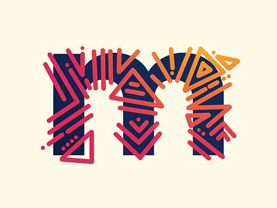 m - #36DaysOfType muse geometric abstract 36daysoftype
