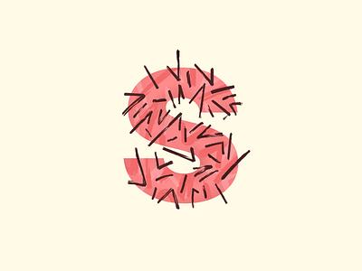 s - #36DaysOfType sharp abstract stroke brush 36daysoftype