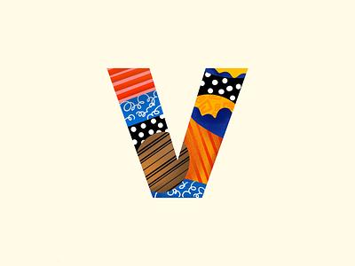 v - #36DaysOfType patterns abstract 36daysoftype