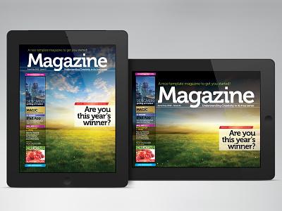 iPad/Tablet Magazine InDesign Layout 01 ipad magazine ebook epublishing digital apple android publishing tablet indesign photoshop
