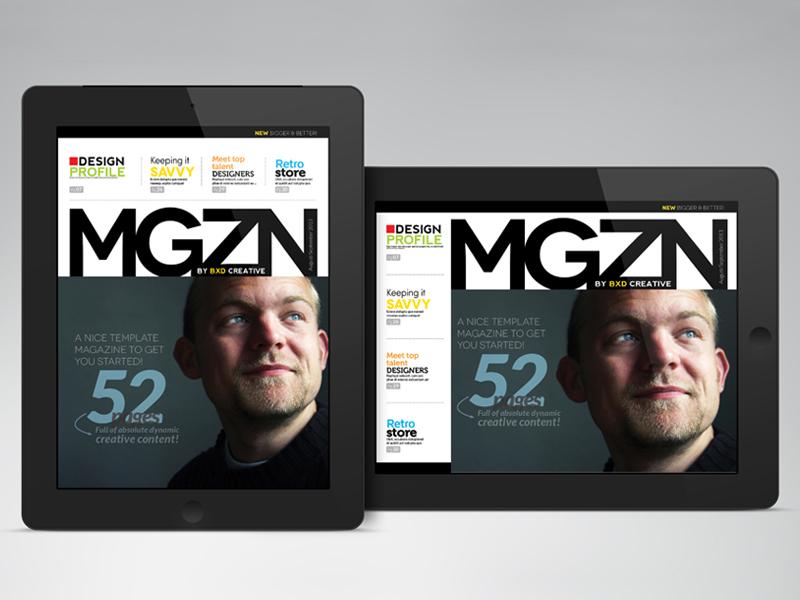 iPad/Tablet Magazine InDesign Layout 02 by BoxedCreative - Dribbble