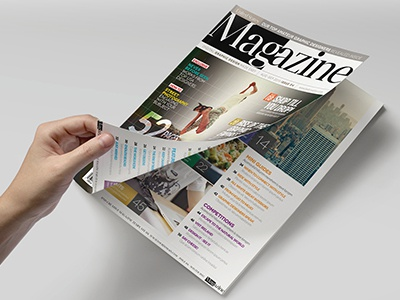 Magazine Template - InDesign 52 Page Layout V4 professional print newsletter leaflet indesign graphic design design corporate brochure booklet book magazine