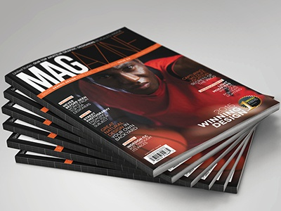 Magazine Template - InDesign 52 Page Layout V5 professional print newsletter leaflet indesign graphic design design corporate brochure booklet book magazine