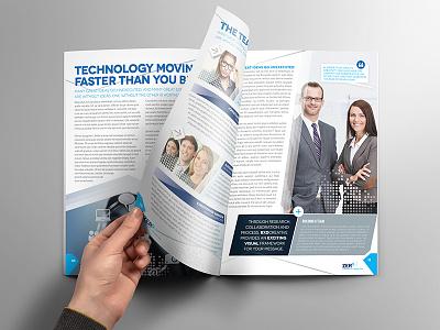 Brochure Template - InDesign 8 Page Layout 07 brochure adobe indesign corporate leaflet flyer magazine newsletter print