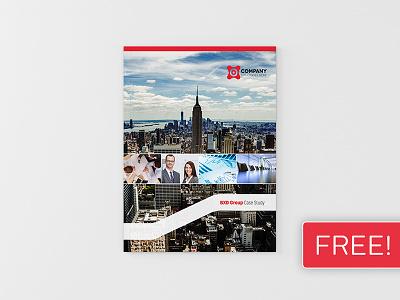 FREEBIE! InDesign Brochure Template 01 print newsletter magazine leaflet indesign graphic design design corporate clean business brochure booklet