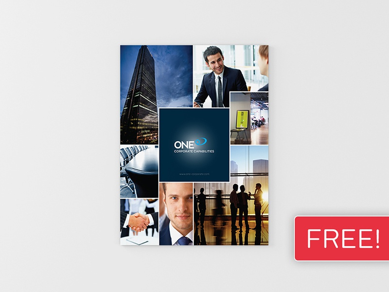 FREEBIE! InDesign Brochure Template 02 booklet brochure business clean corporate design graphic design indesign leaflet magazine newsletter print
