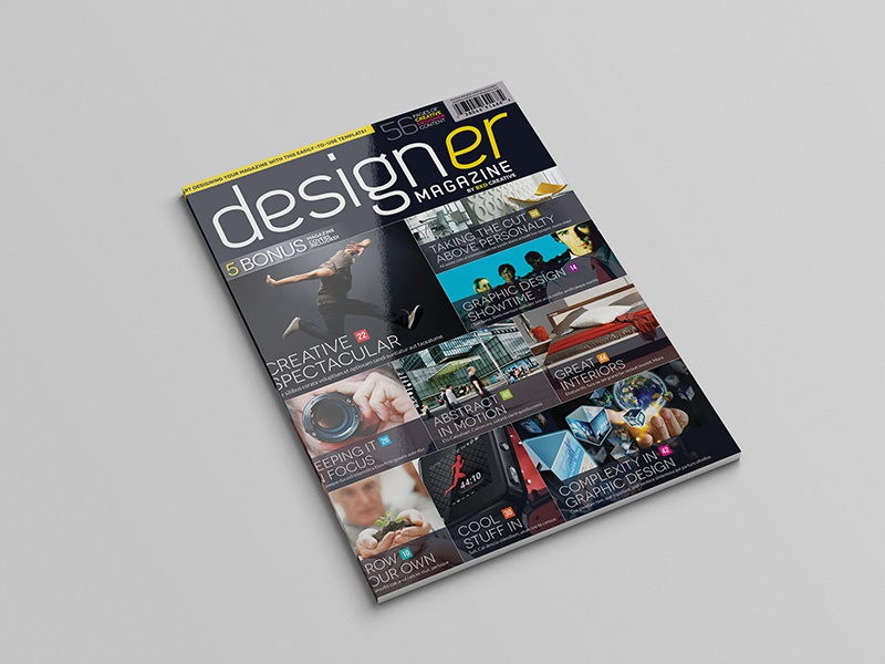Magazine Template - InDesign 56 Page Layout V2 booklet brochure business clean corporate design graphic design indesign leaflet magazine newsletter print
