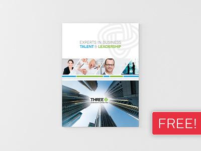 FREEBIE! InDesign Brochure Template 03 print newsletter magazine leaflet indesign graphic design design corporate clean business brochure booklet