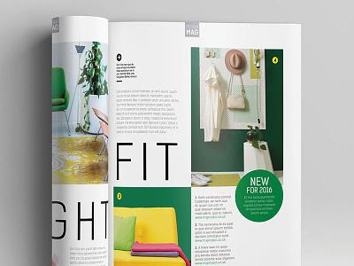 Magazine Template - InDesign 40 Page Layout V7 professional print newsletter leaflet indesign graphic design design corporate brochure booklet book magazine