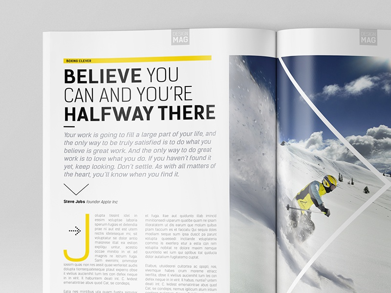 magazine template indesign 40 page layout v8 by boxedcreative
