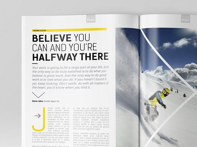 Magazine Template - InDesign 40 Page Layout V8 by BoxedCreative ...