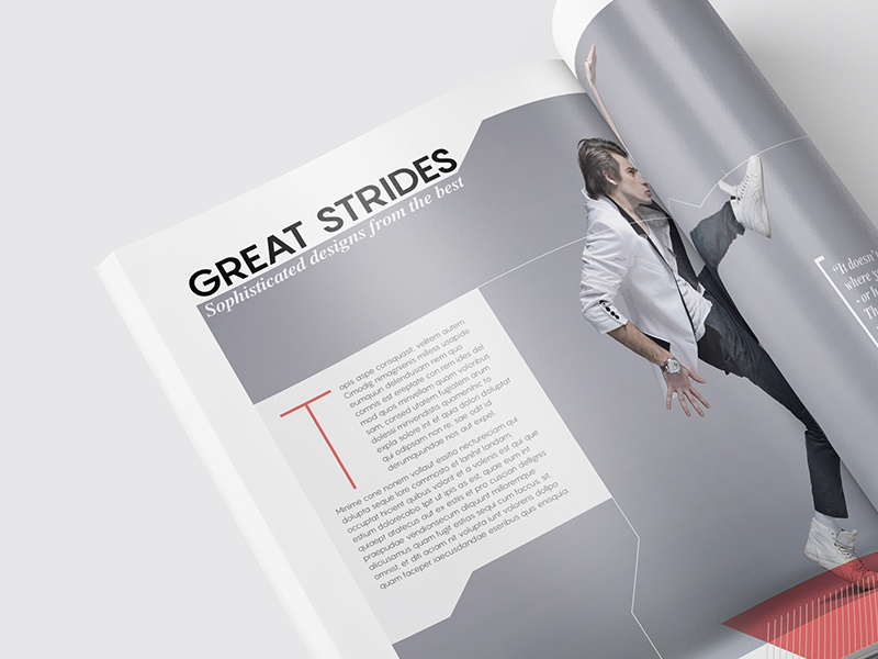 Magazine Template - InDesign 40 Page Layout V9 professional print newsletter leaflet indesign graphic design design corporate brochure booklet book magazine