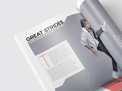 Magazine Template - InDesign 40 Page Layout V9 professional print newsletter leaflet indesign graphic design design corporate brochure booklet book magazine