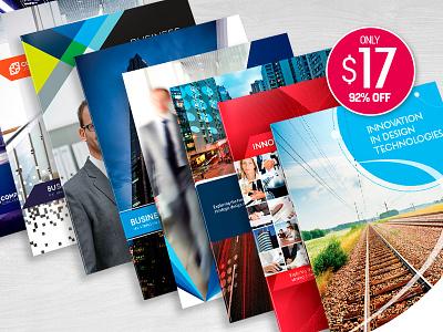 8 Print-Ready InDesign Brochure Templates booklet brochure business clean corporate design graphic design indesign leaflet magazine newsletter print