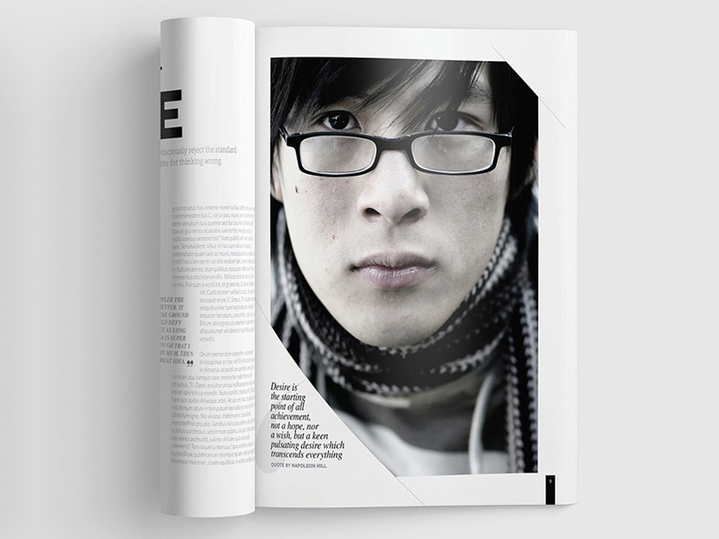 Magazine Template - InDesign 40 Page Layout V11 indesign print newsletter leaflet graphic design design brochure booklet book magazine