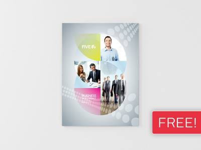 FREEBIE! InDesign Brochure Template 05 print newsletter magazine leaflet indesign graphic design design corporate clean business brochure booklet