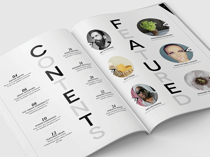 Magazine Template - InDesign 40 Page Layout V12 magazine book booklet brochure design graphic design leaflet newsletter print indesign