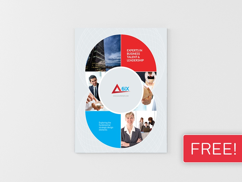 Free brochure mock up front free