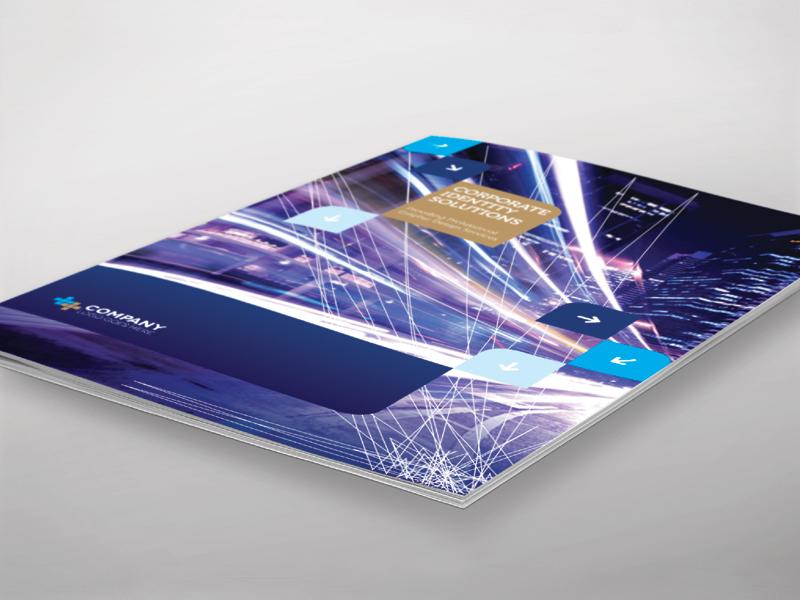 Brochure Template - InDesign 8 Page Layout 06 print newsletter magazine flyer leaflet corporate adobe indesign brochure