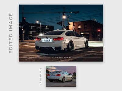 Liberty Walk BMW M4 photo montage (virtual tuning)