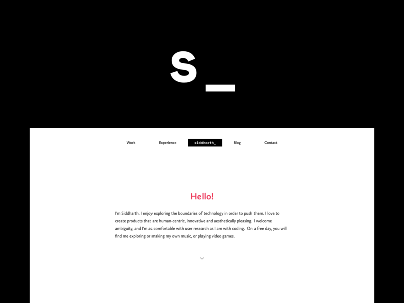 Portfolio - Siddharth Ahuja projects minimal clean white design responsive ux ui web portfolio