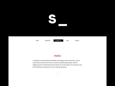 Portfolio - Siddharth Ahuja projects minimal clean white design responsive ux ui web portfolio