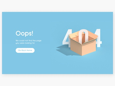 404 ui 3d 008 dailyui error 404