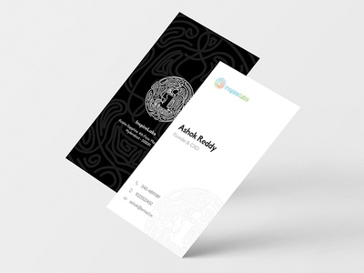Visiting Cards startup corporate mockup black white portrait clean minimal card business visiting