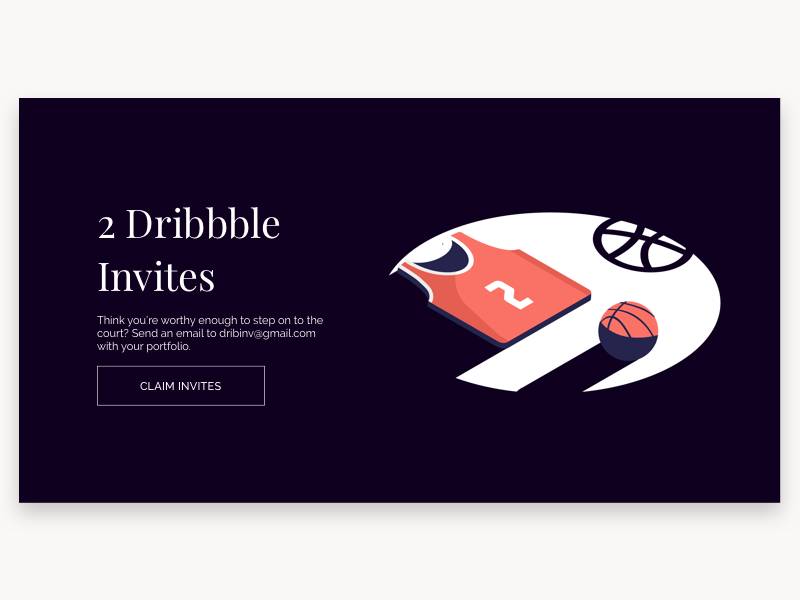 2x Dribbble Invite Giveaway ui dark shadow colors isometric illustration dribbble draft invitations invitation invites invite