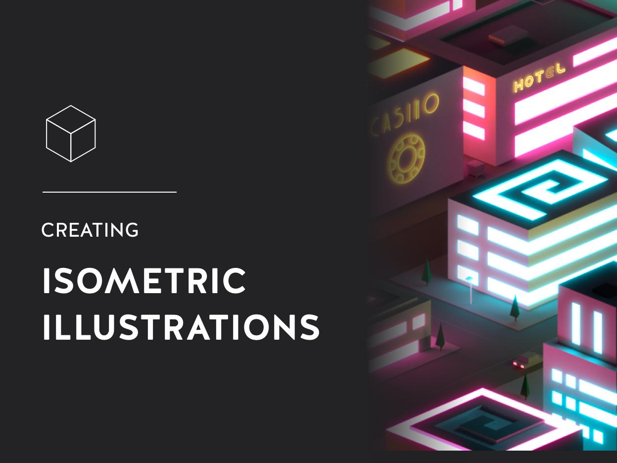 Article - Create isometric illustrations quickly post medium illustrator buildings article low poly 3d vector illustrations illustration isometric