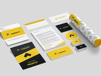 Open Developer Community Stationery Concept icon microsoft development webinar meetup community yellow stationery concept design logotype logo brand