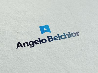 Angelo Belchior (Developer) Personal Brand Logotype. microsoft logotipo developer minimal icon blue brand identity design logo