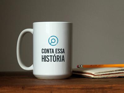 Conta essa História - Podcast brand identity magnifier graphic design mug podcast logo logotype branding logotipo icon brand logo