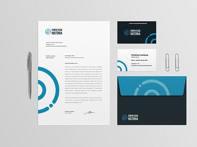 Conta essa História - Podcast brand identity vector history blue zoom loop magnifier brand logotype branding logotipo brand identity icon logo