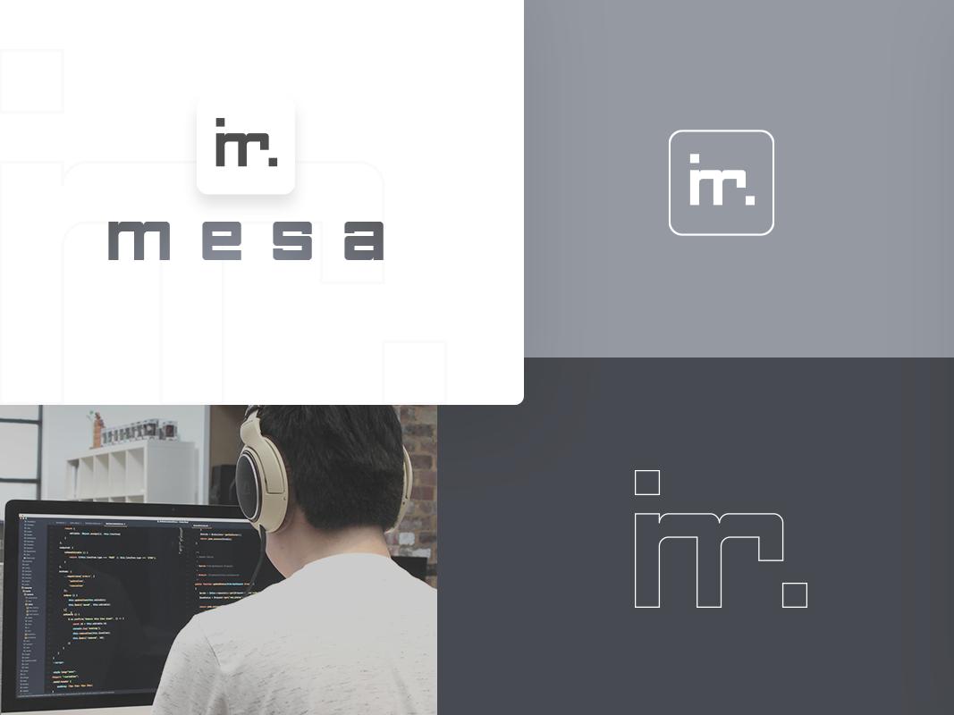 M E S A (brand design) logo branding design ui icon development developer icon app letter m brand logotype
