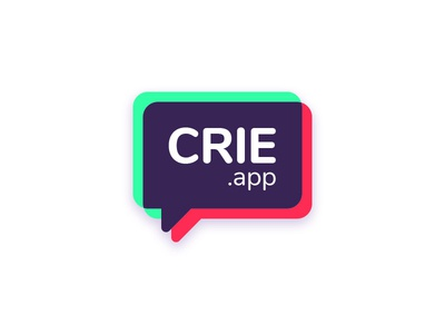 crie.app - Brand Concept baloons chat typogaphy shapes ui brand and identity logotipo branding brand identity abstract development microsoft design gradient icon logotype logo brand
