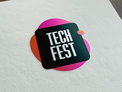 Tech Fest - Sticker development design logotipo developer branding brand identity logotype logo adesivo simple brand sticker