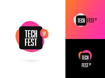 Tech Fest - Logo Concept brand identity modern awwwards ted google microsoft gradient branding developer development dev tech fest event concept logo brand