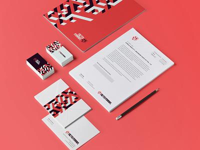 Neto Marin - Brand Concept logotype microsoft google development developer brand identity orange stationery branding logotipo brick block icon design logo brand