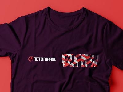 Neto Marin - Tshirt Concept logotype development abstract branding logotipo design tshirt art orange brand logo icon tetris block brick tshirt