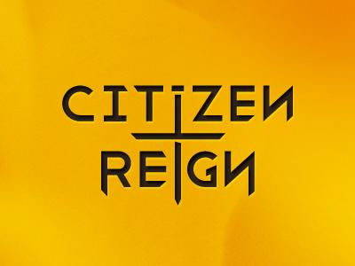 Citizen Reign logo logo branding